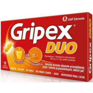 Gripex Duo, tabletki, 16 szt